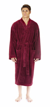 Kimono Design Fleece Bathrobe
