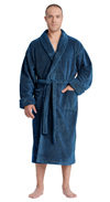Sateen Touch Shawl Fleece Bathrobe